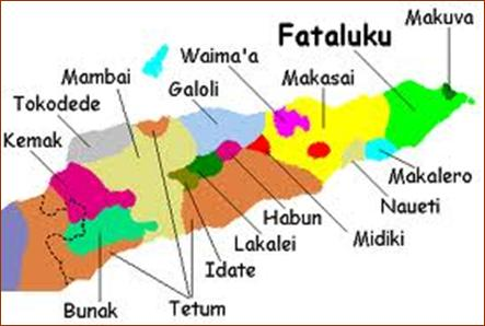 Languages of East Timor. Map from the website Fataluku Language Project.